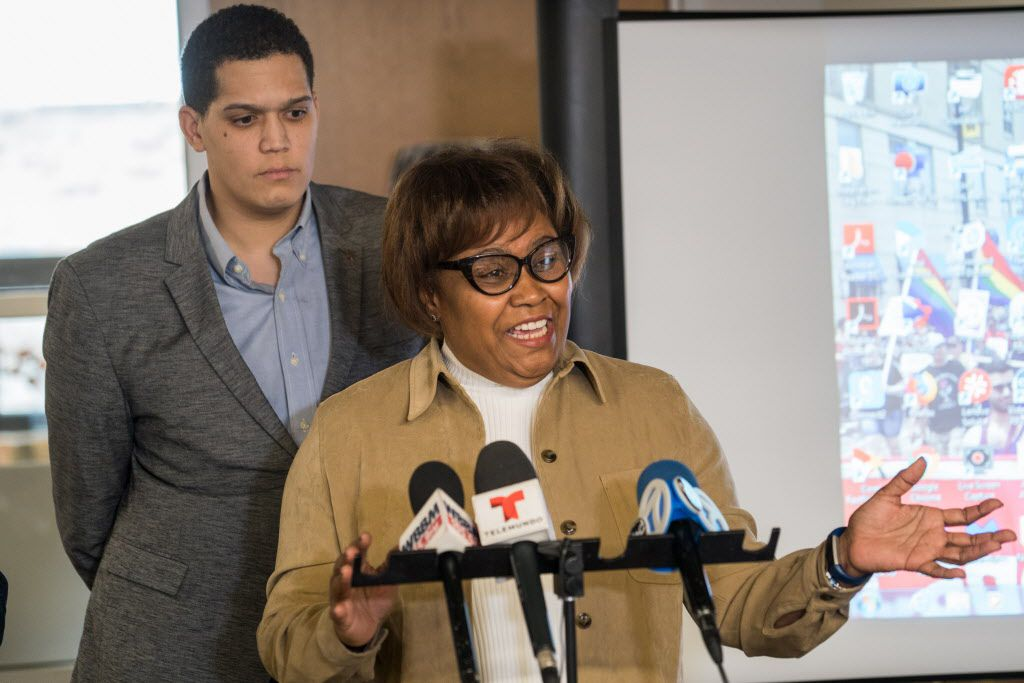 Cook County Clerk Karen Yarbrough at a press conference on January 28, 2019.