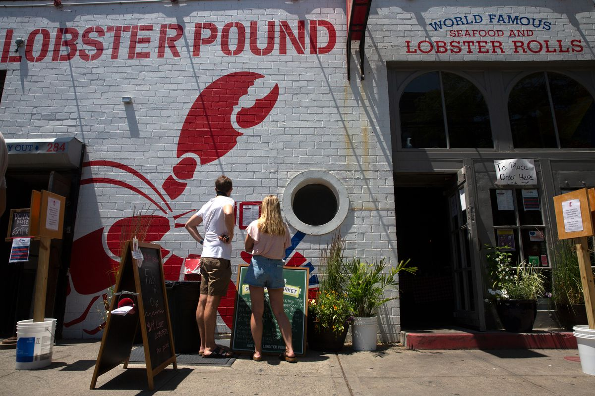 Red Hook Lobster Pound was open for takeout ahead of New York's phase two reopening, June 19, 2020.