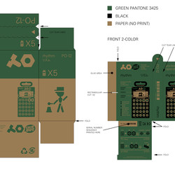 A close-up look at the simple but informative cardboard packaging that houses the Pocket Operator series.