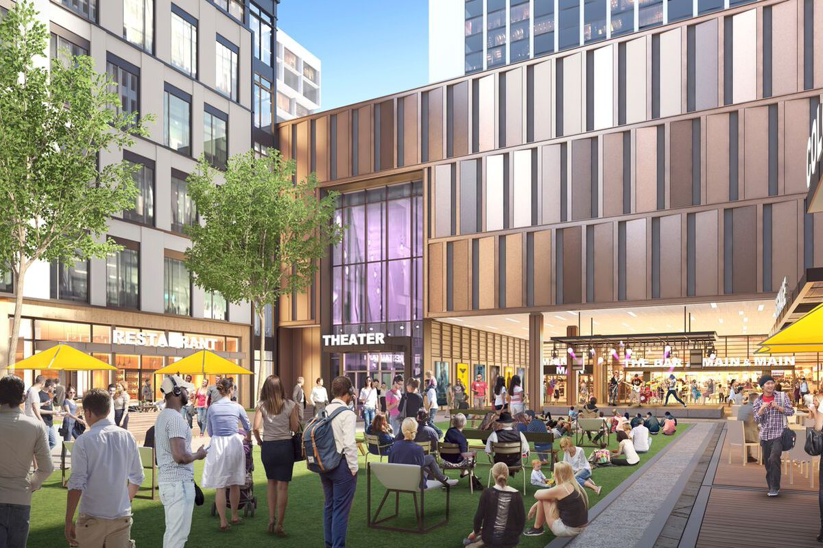 How Colony Square's interior, open-air Plaza is projected to look.
