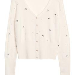 Cashmere & rhinestone cardigan, $165