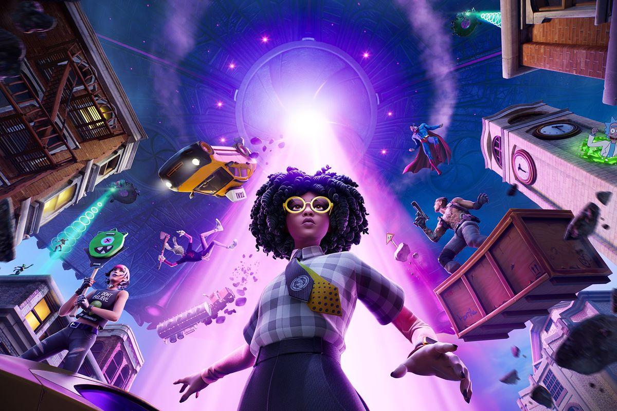 Key art for Fortnite Chapter 2 season 7 during the alien invasion