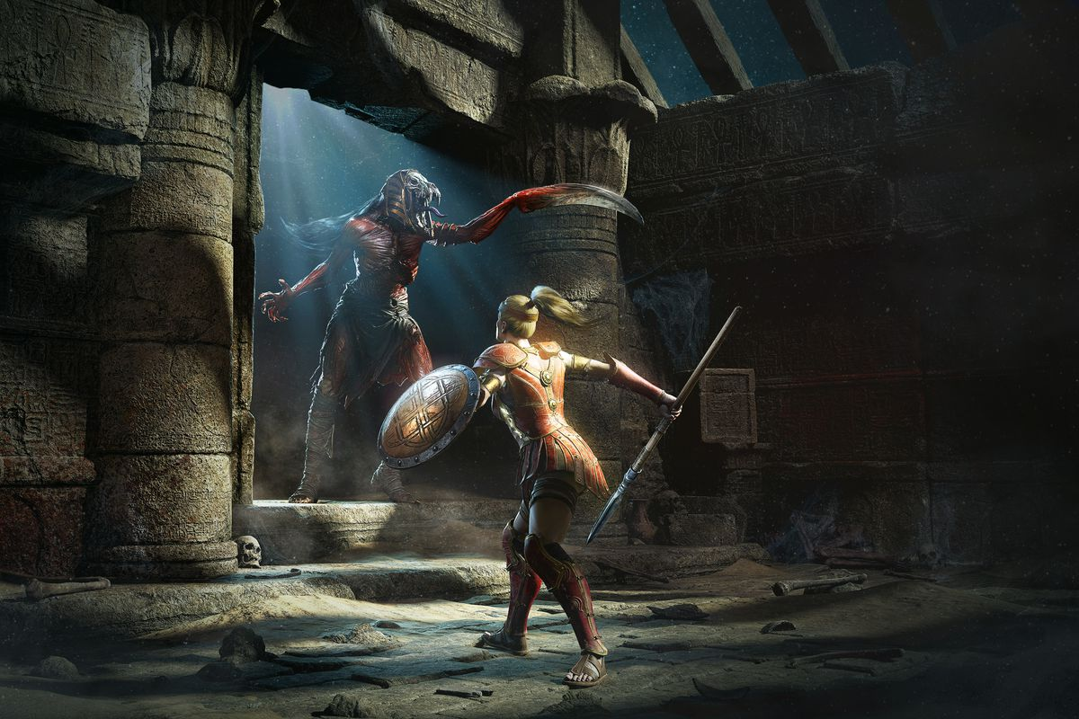 Diablo 2: Resurrected Amazon Mummy Battle art