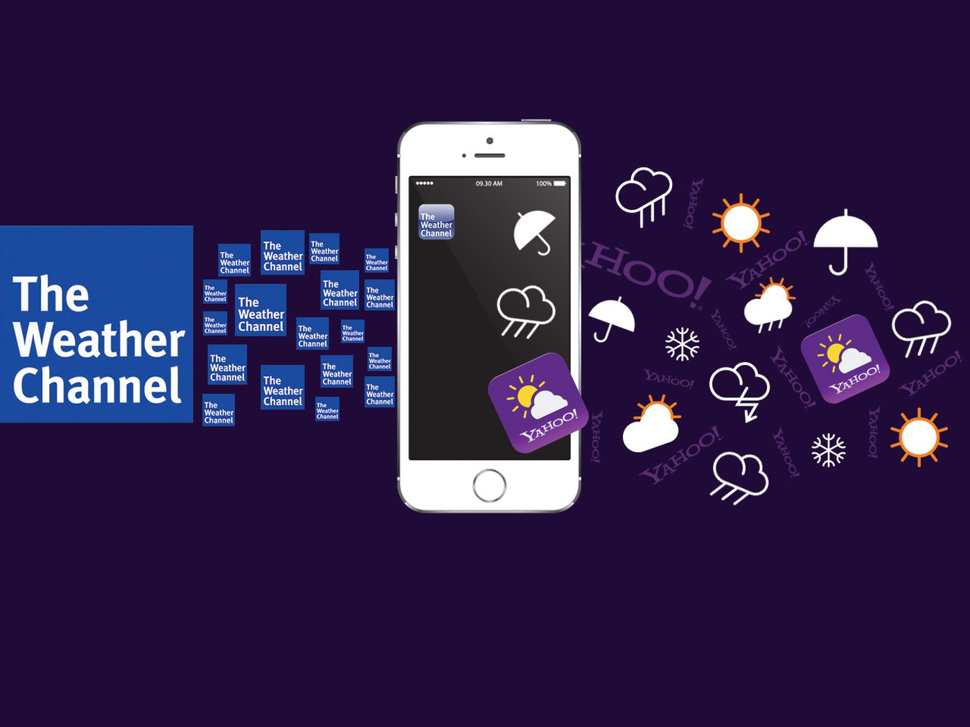 As Weather Channel Blows Yahoo Off Apples Upcoming Ios 8 App