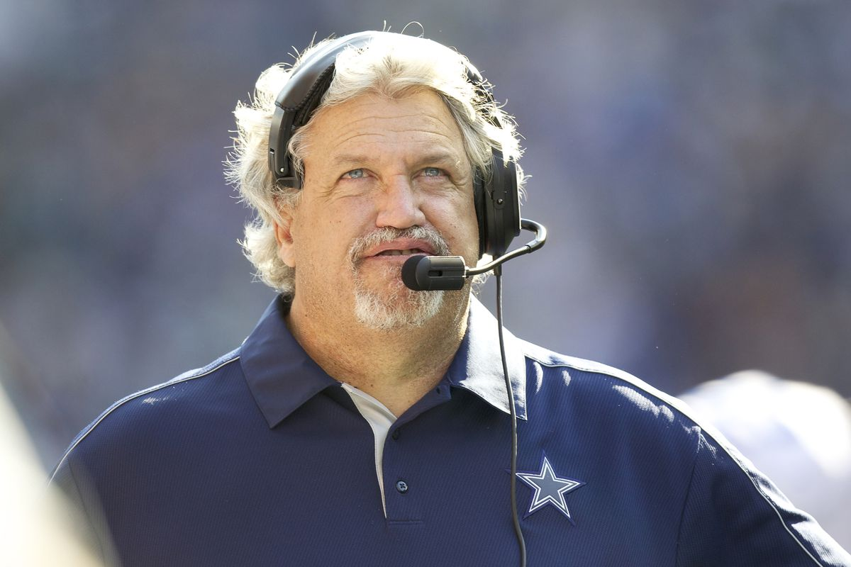 SEATTLE, WA - SEPTEMBER 16: Dallas Cowboys Defensive Coordinator Rob Ryan looks at the scoreboard during a game against the Dallas Cowboys at CenturyLink Field on September 16, 2012 in Seattle, Washington. (Photo by Stephen Brashear/Getty Images)