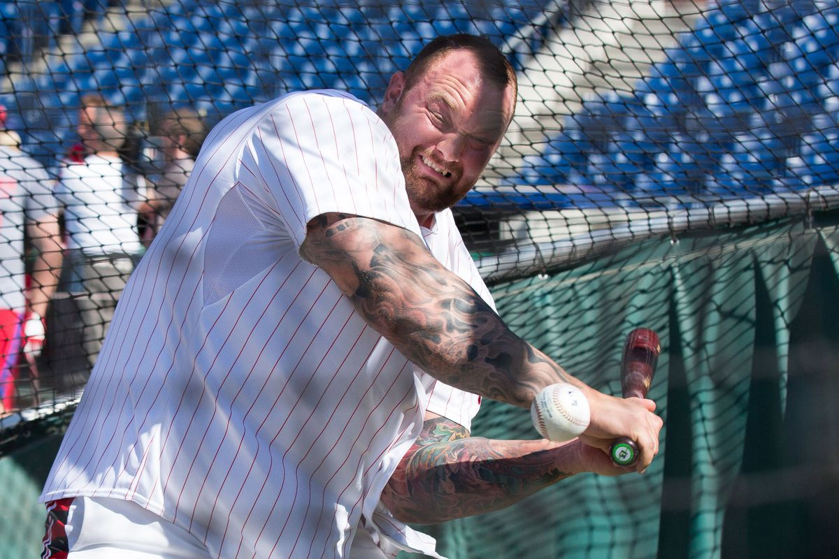 Ser Gregor Clegane is even terrifying while trying to hit a baseball