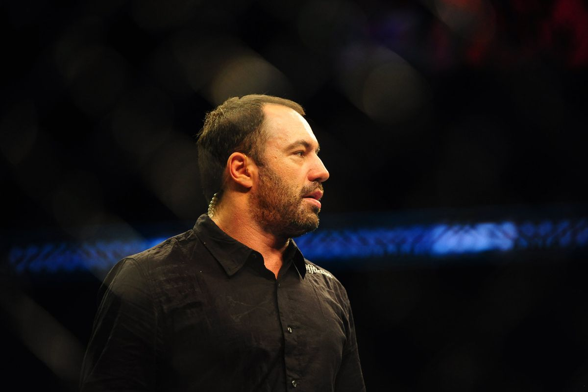 Aug. 7, 2010; Oakland, CA, USA; UFC announcer Joe Rogan during the light heavyweight bout in UFC 117 at the Oracle Arena. Mandatory Credit: Mark J. Rebilas-US PRESSWIRE