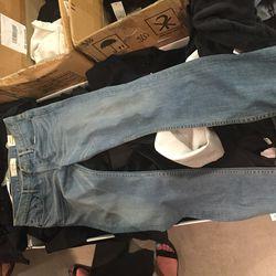 TBVM light wash boyfriend jeans, size 28, $85.20 (was $213)