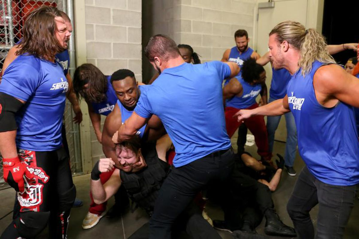 Image result for SmackDown attacks RAW 2017