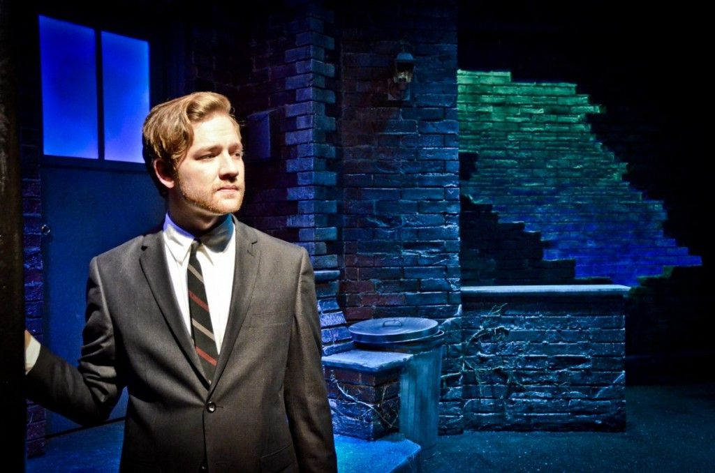 """Jordan Phelps is the Narrator in the Theo Ubique Cabaret Theatre production of Willy Russell's musical """"Blood Brothers."""" (Photo: Adam Vaness)"""