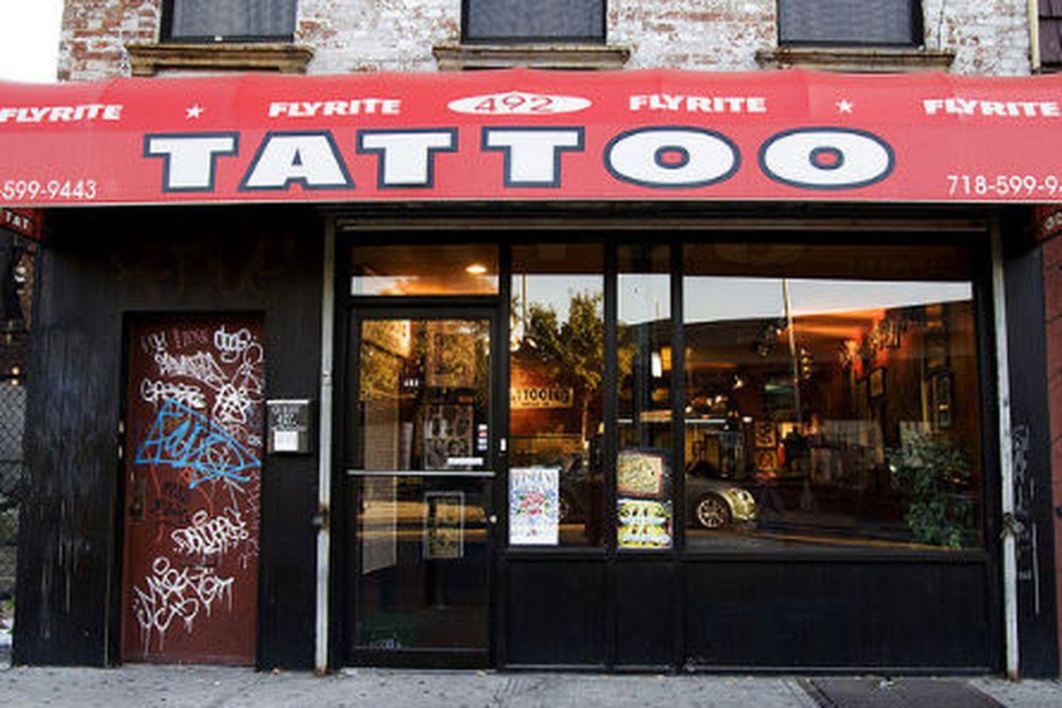 "Image of Flyrite Tattoo via <a href=""http://www.flickr.com/photos/roboppy/2942927797/sizes/z/in/photostream/"">roboppy</a>/Flickr"