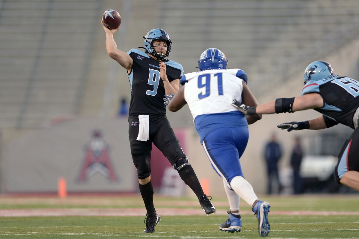 Dallas QB Philip Nelson throws a pass in practice.