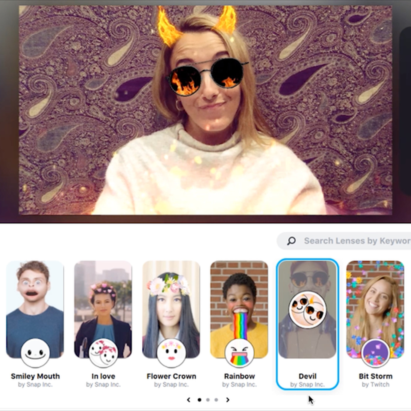 Snapchat brings its camera to the desktop to add filters to your