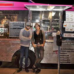 The Coolhaus ice cream truck fellas also brought their style A-game.