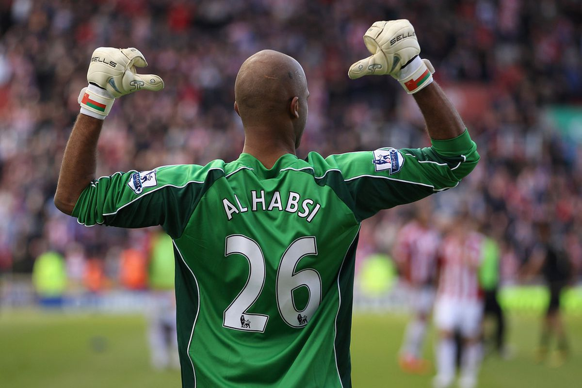 Ali Habsi, is a a blue, is a blue, is a blue,  Ali Habsi is a blue,  He Hates Bolton.