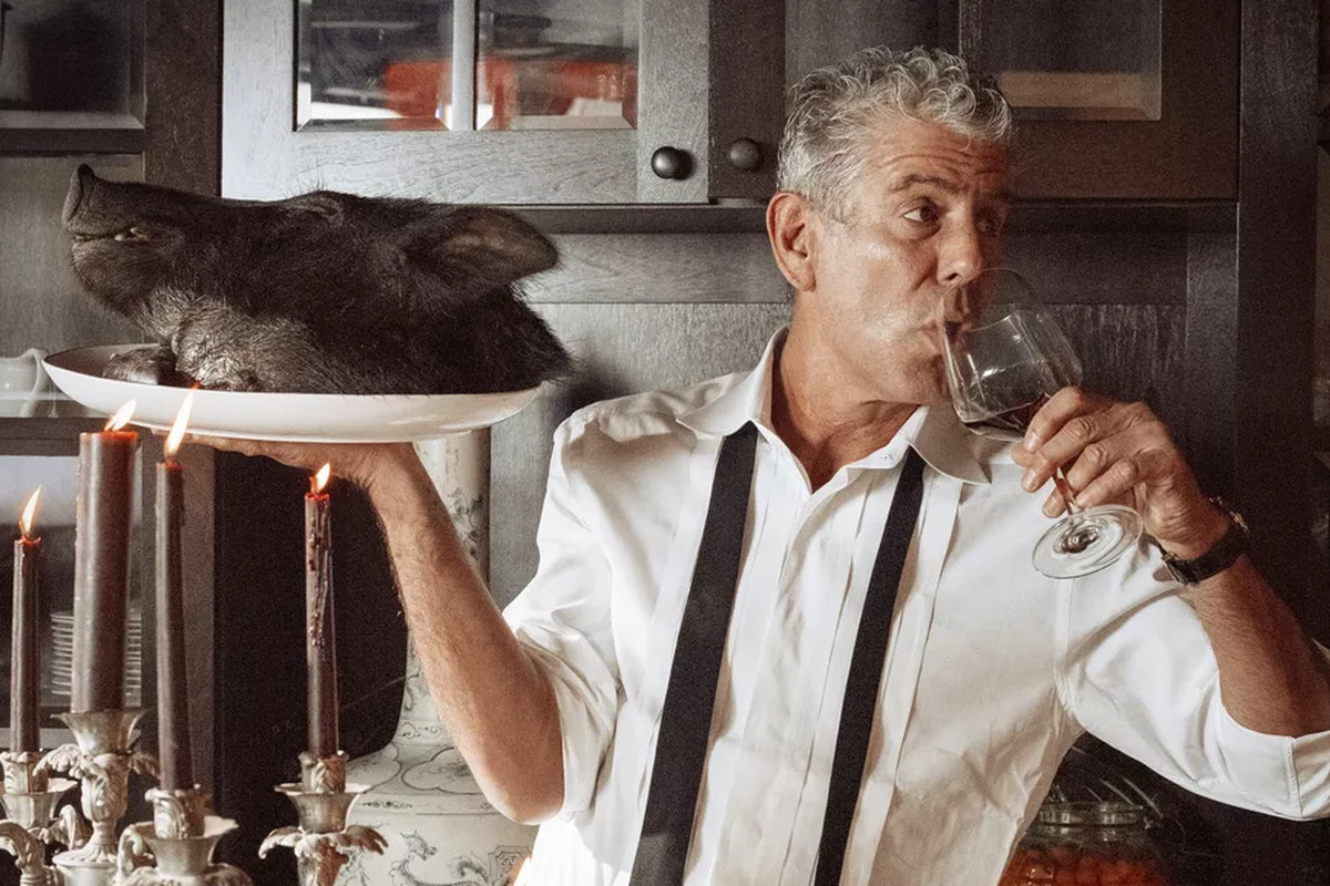 The back cover of 'Appetites: A Cookbook' by Anthony Bourdain
