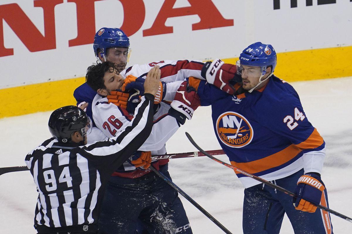 NHL: Stanley Cup Playoffs-Washington Capitals at New York Islanders