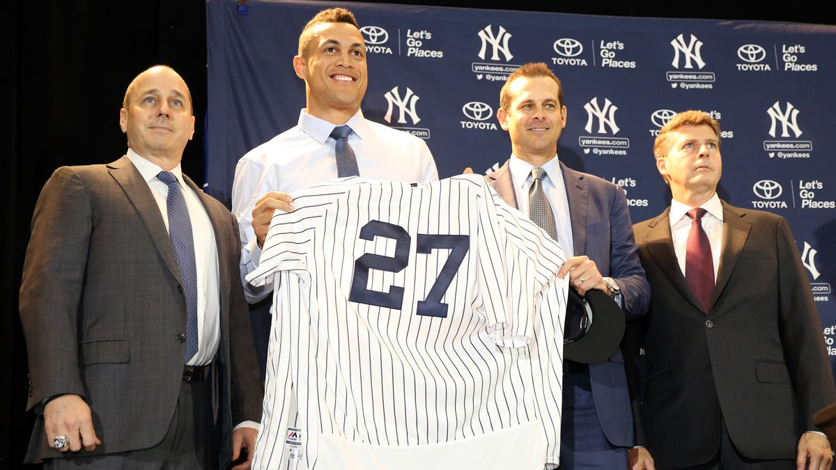 Giancarlo Stanton Introduced as New York Yankee