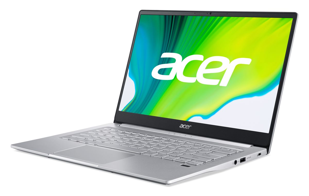 The Acer Swift 3 SF314-59 from the left side.