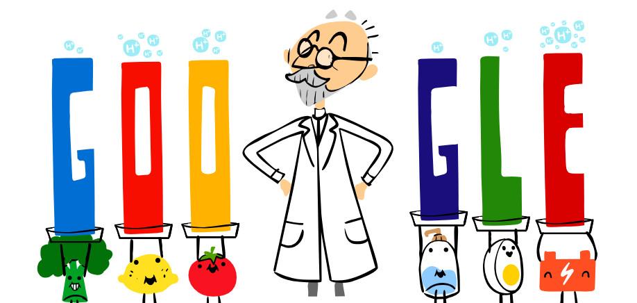 Google Doodle honoring chemist Søren Peter Lauritz Sørensen