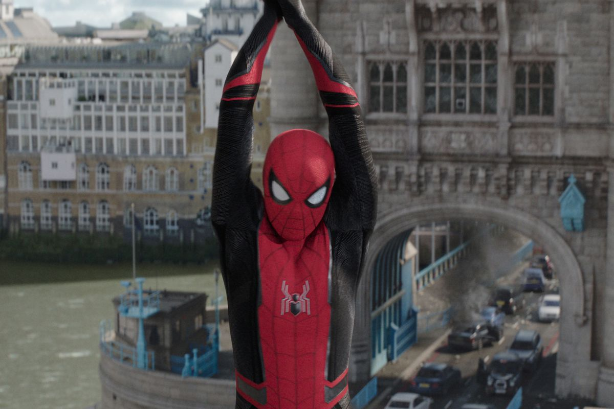 """Spider-Man is off to Venice in """"Spider Man: Far From Home,"""" starring Tom Holland as the web-slinging superhero."""