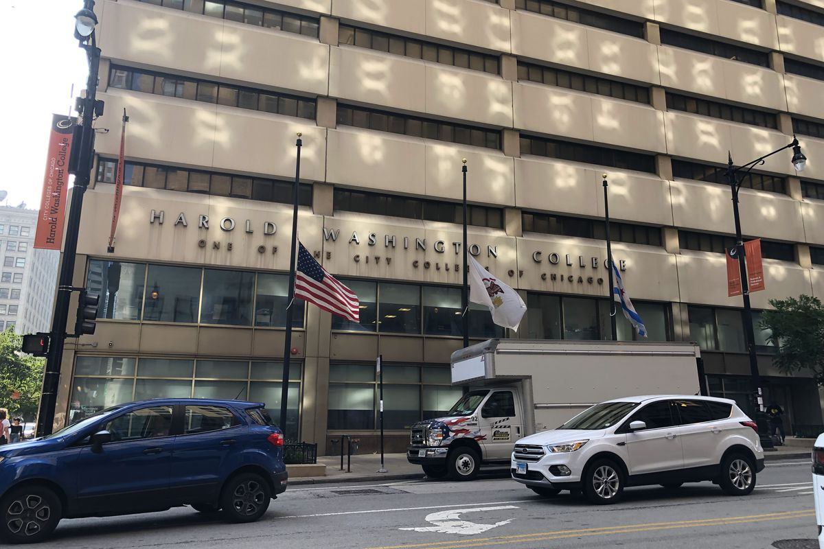 Harold Washington College, where the City Colleges of Chicago board meeting was held Tuesday afternoon. July 13, 2021