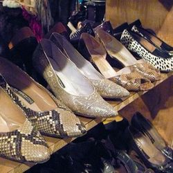 Vintage shoes in Ricky Becker's glamor section