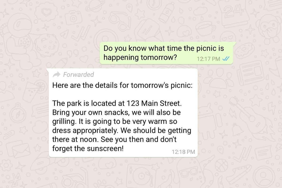 WhatsApp will now label its forwarded messages - The Verge