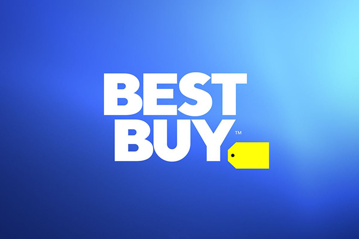 new best buy logo diminishes the shopping tag because brick and