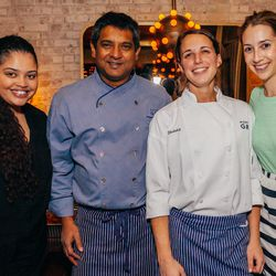 Floyd Cardoz and the North End Grill team
