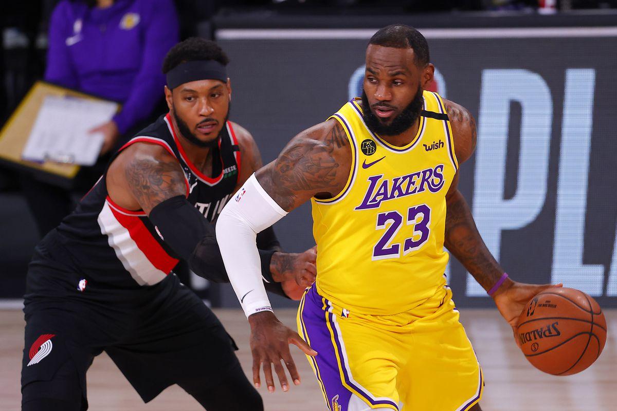 NBA: Playoffs-Portland Trail Blazers at Los Angeles Lakers