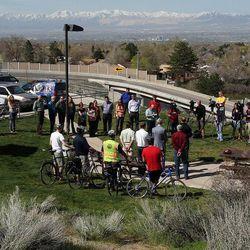 County Mayor Ben McAdams announces Salt Lake County's new Bicycle Ambassador Program, Monday, April 29, 2013.