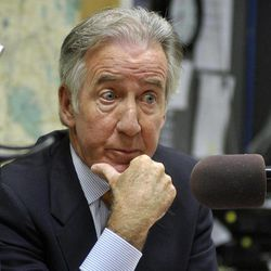 In this Thursday, Aug. 30, 2012 photo, U.S. Rep. Richard Neal answers a question during a debate at WBEC radio in Pittsfield, Mass.  Neal is one of three western Massachusetts Democrats fighting to win the new 1st Congressional District seat in Washington.