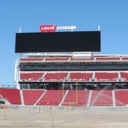 A look at the other seating area and the monstrous scoreboard. The second scoreboard is behind me in this picture
