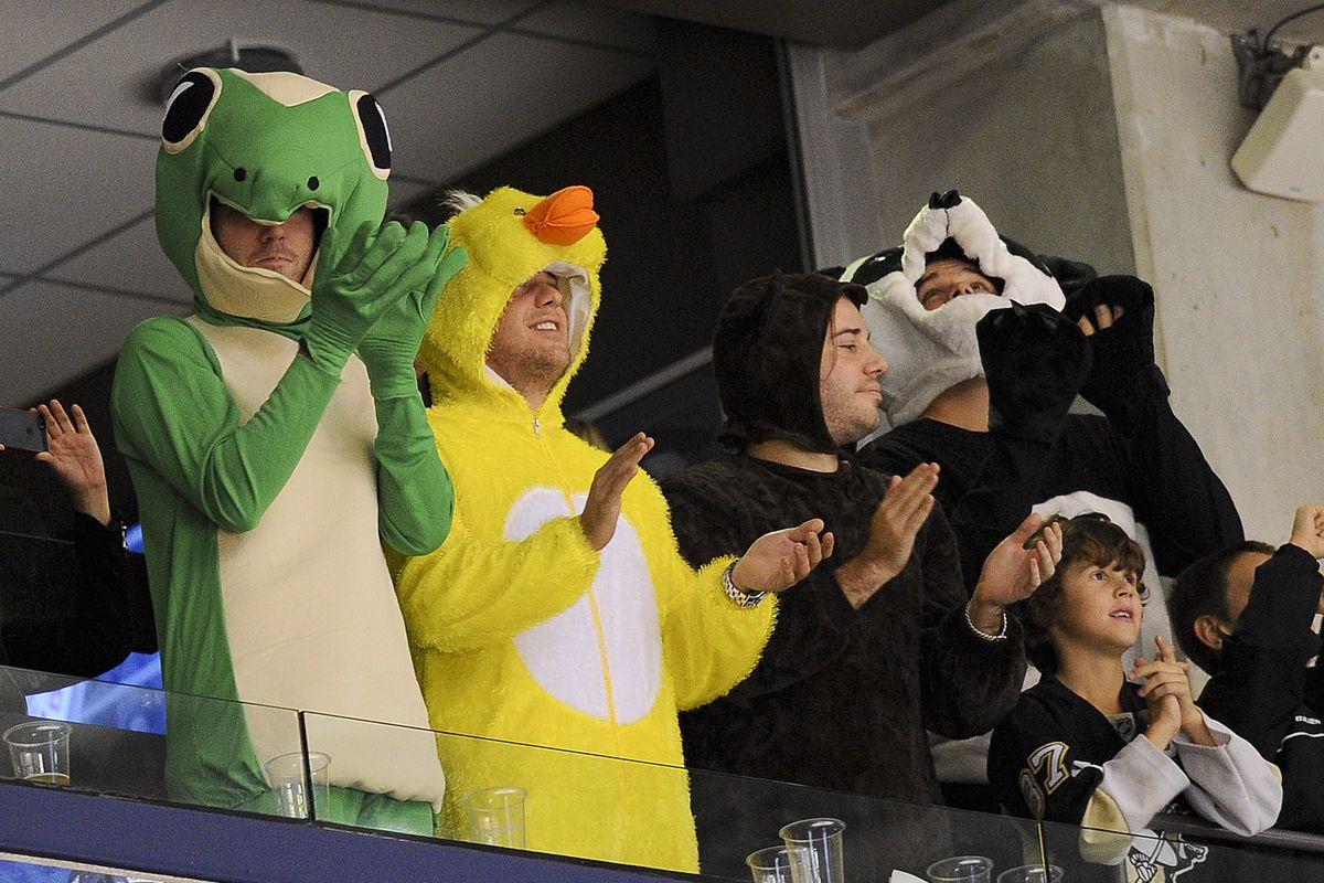 costumed fans