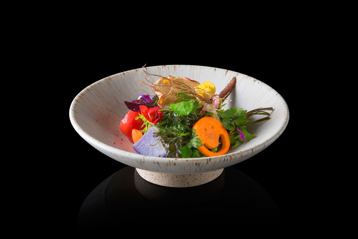 A Dish At Den New Two Michelin Starred Restaurant Photo