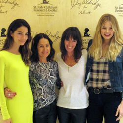 """<span class=""""credit"""">Lily Aldridge with Velvet creative directors Jenny Graham and Toni Spencer, and model pal Tori Praver</span></br></br> <b>Since Valentine's Day is this Friday, do you and your man have any special plans?</b></br> """"My husband [Caleb]"""