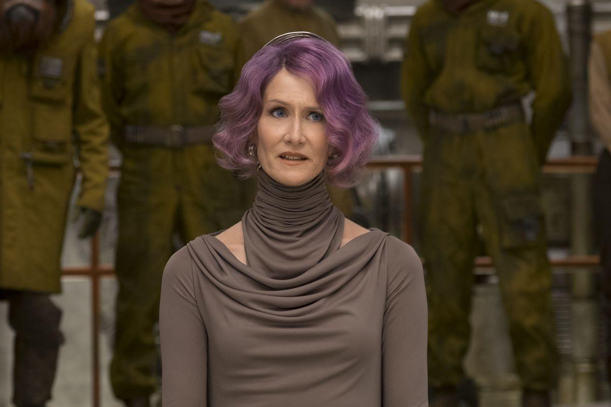Laura Dern as Vice Admiral Amilyn Holdo in Star Wars: The Last Jedi