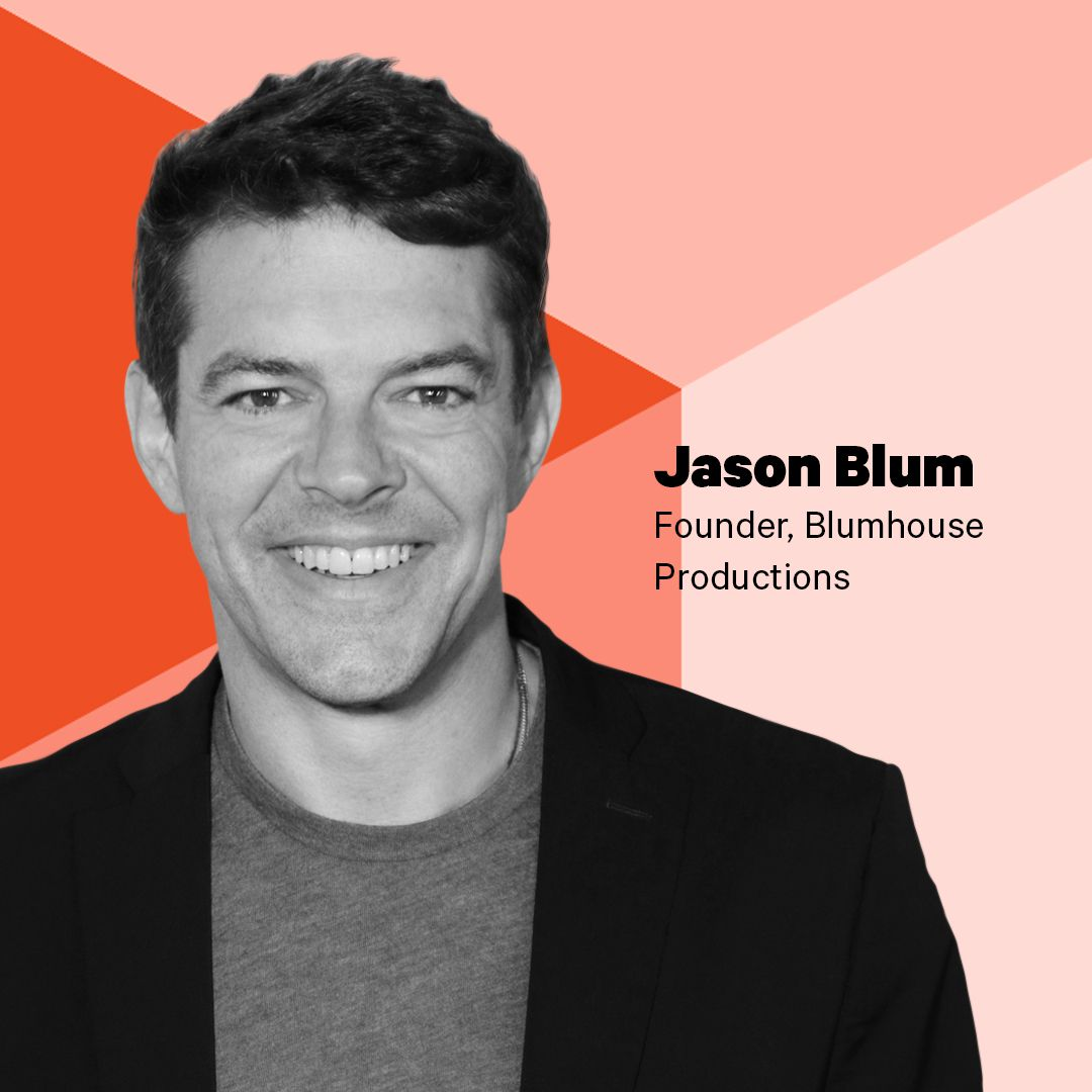 SXSW 2018 photo of Hollywood producer Jason Blum at Recode's live podcasting