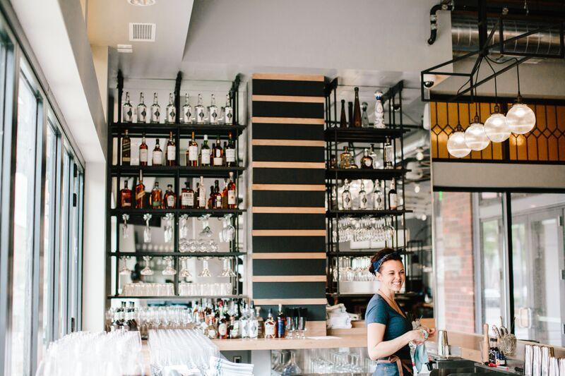 Getting the bar ready. Photo courtesy Eastside
