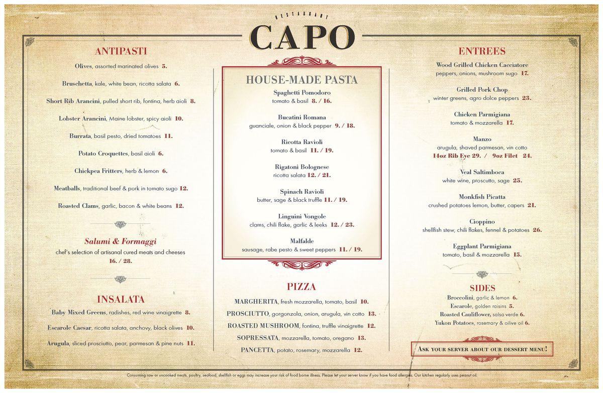 Capo menu 1