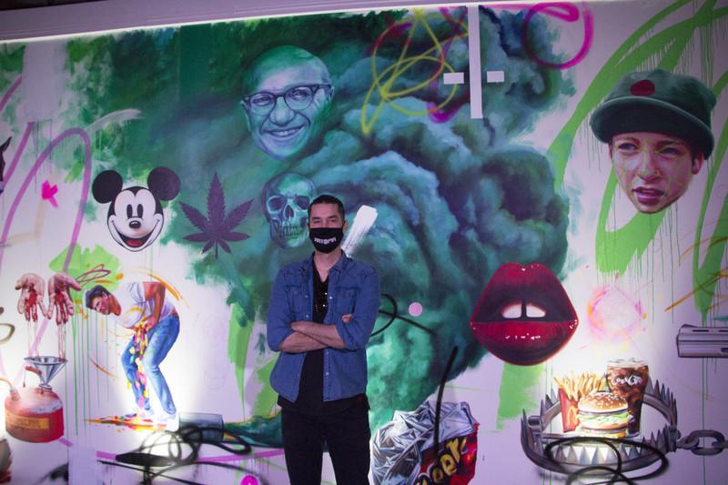 John Schroeder, 30, co-creator of the Artopia popup exhibition.