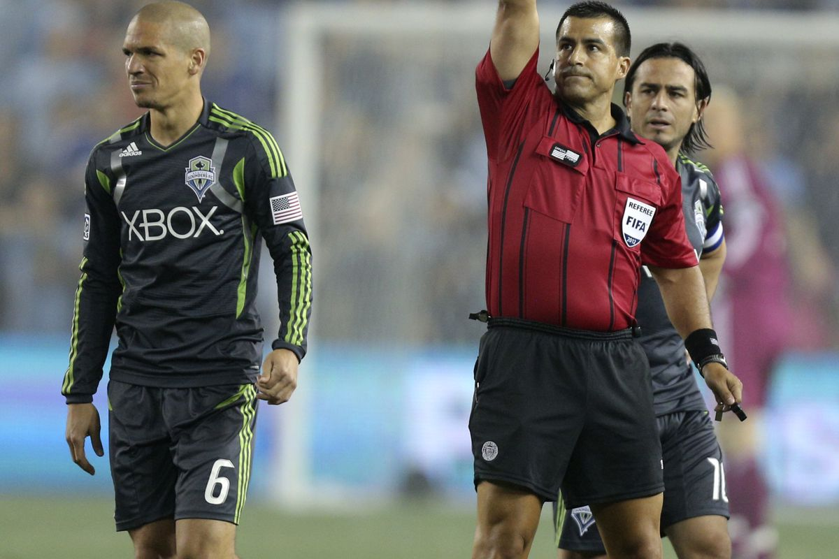 Osvaldo Alonso shows up on the third most SBN MLS MVP ballots. (Photo by Ed Zurga/Getty Images)