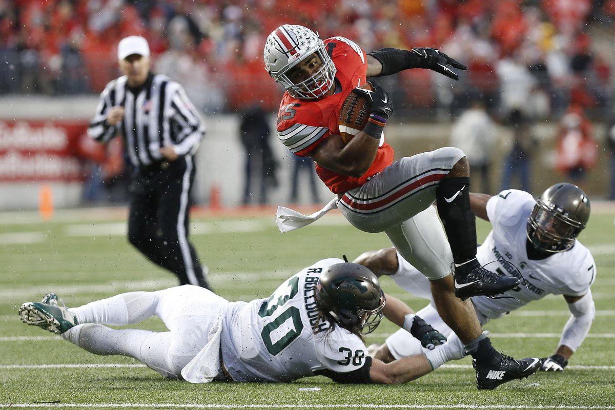 Ezekiel Elliott and the Buckeyes couldn't overcome Michigan State on Saturday with a tough loss.