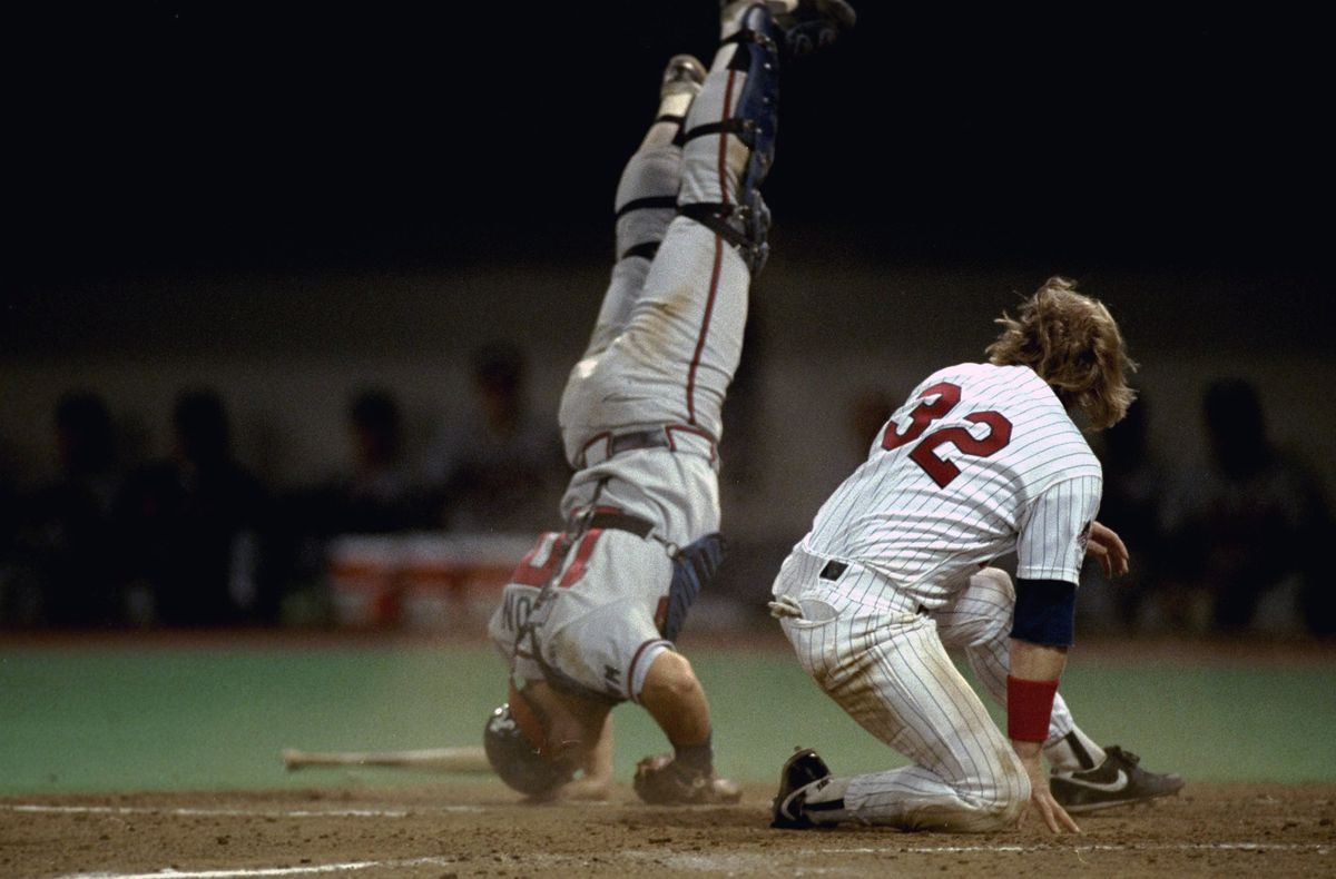 Atlanta Braves Greg Olson, 1991 World Series