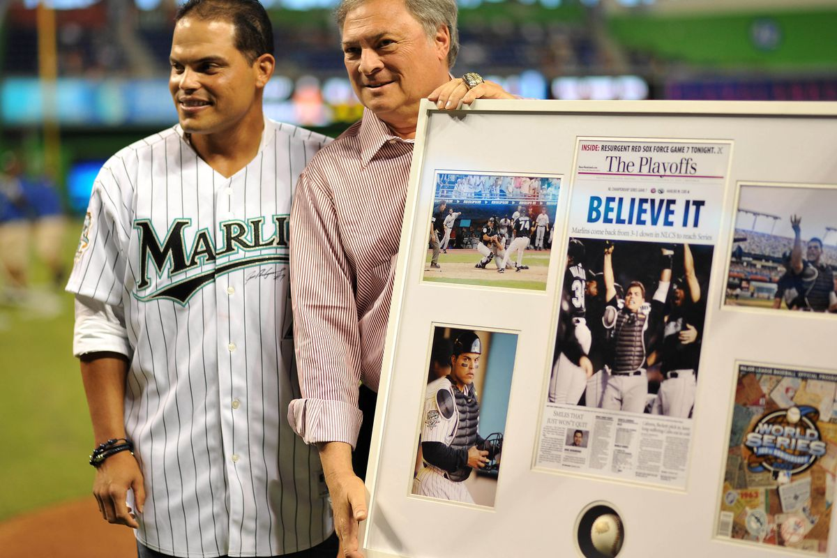 """A lot of the reason why the Marlins are rumored to be in """"fire sale"""" mode is because of Jeffrey Loria's sordid past. Mandatory Credit: Steve Mitchell-US PRESSWIRE"""