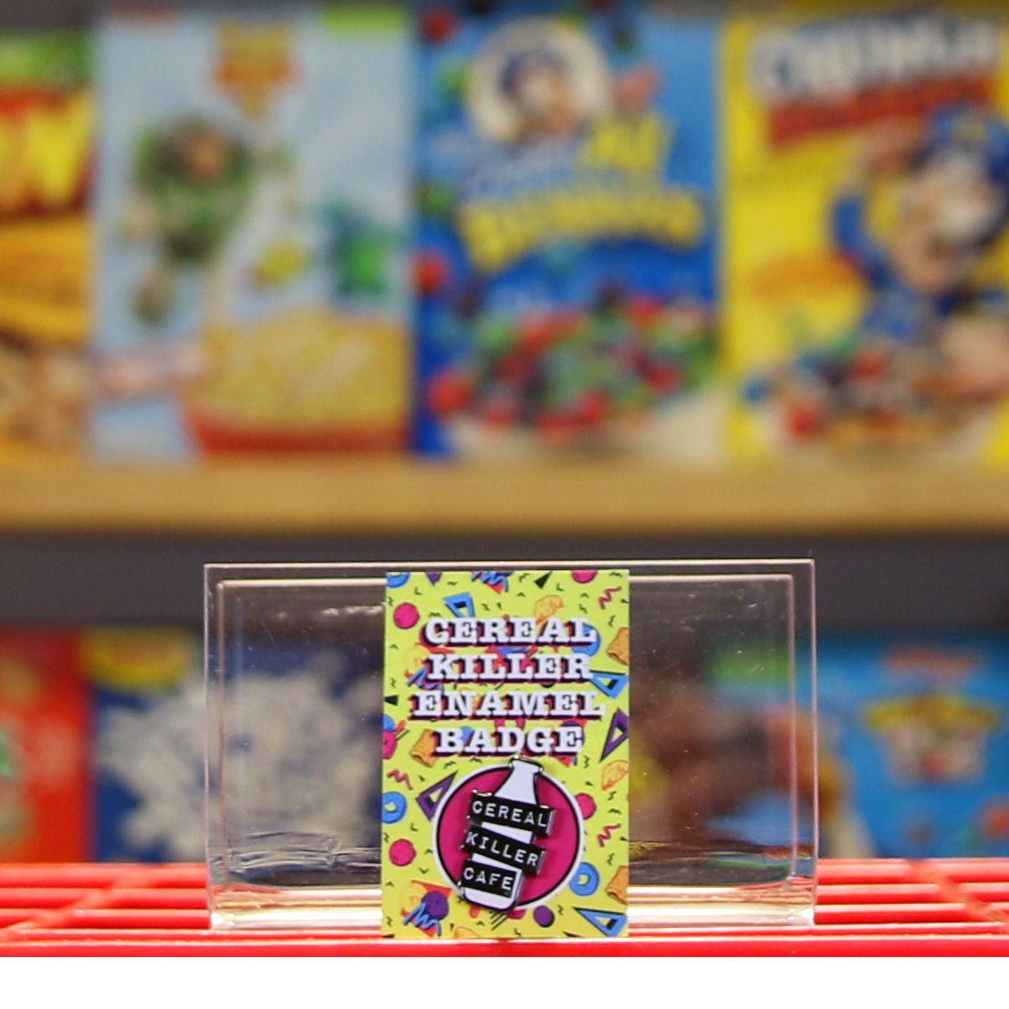 Cereal Killer enamel badge merch