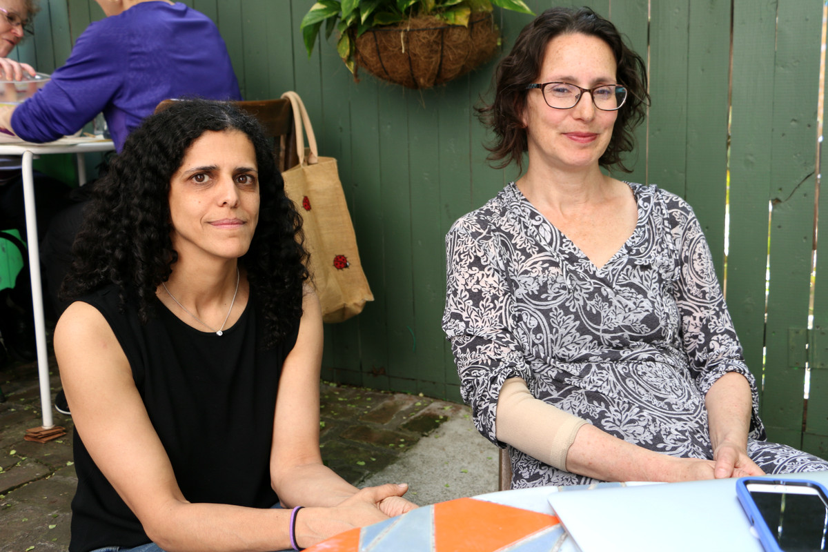 Reyhan Mehran and Miriam Nunberg, members of the group District 15 Parents for Middle School Equity, want to reform the district's enrollment system.