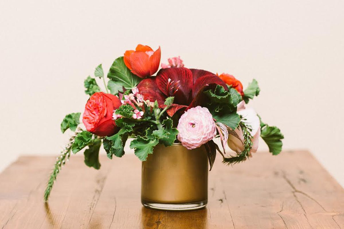 """Pollen floral design; Photo by <a href=""""http://zacxwolf.com/"""">Zac Wolf Photography</a>, courtesy of Pollen and BCAE"""