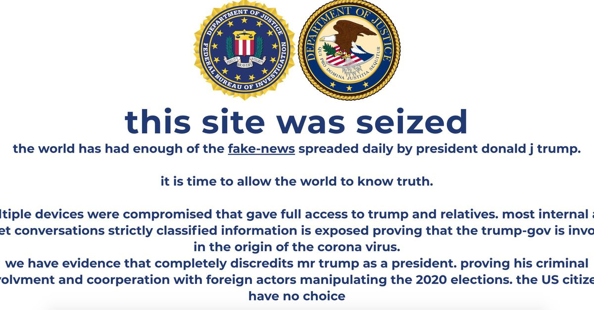 Trump's campaign website hit with cryptocurrency scam